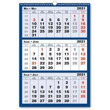 Calendar triptic 3 culori 2021