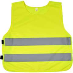 Marie safety vest with hook&loop for kids age 7-12, Neon Yel