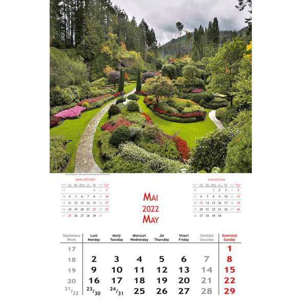 Calendar de perete Gradini 2022
