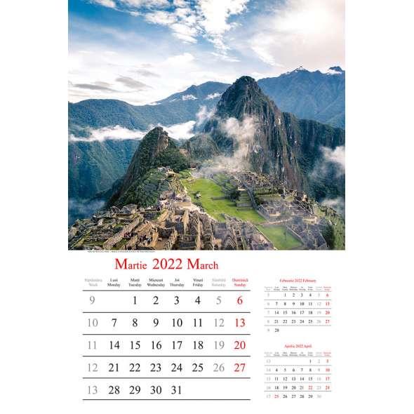 Calendar de perete Holiday 2022