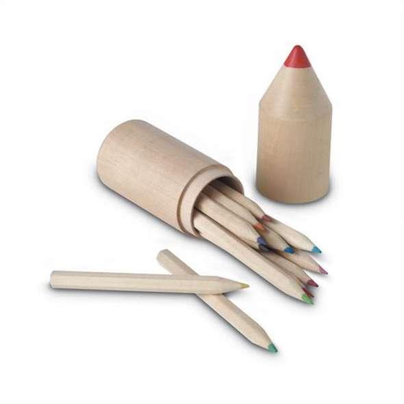 Creioane  in cutie din lemn Alexia
