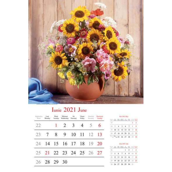 Calendar de perete Buchete 2021