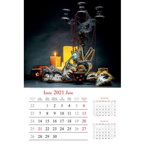 Calendar de perete Extravaganza 2021