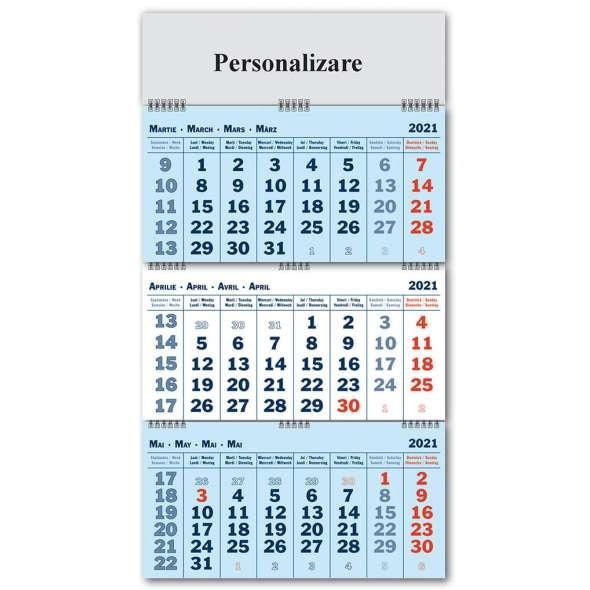 Calendar triptic pliat 2021