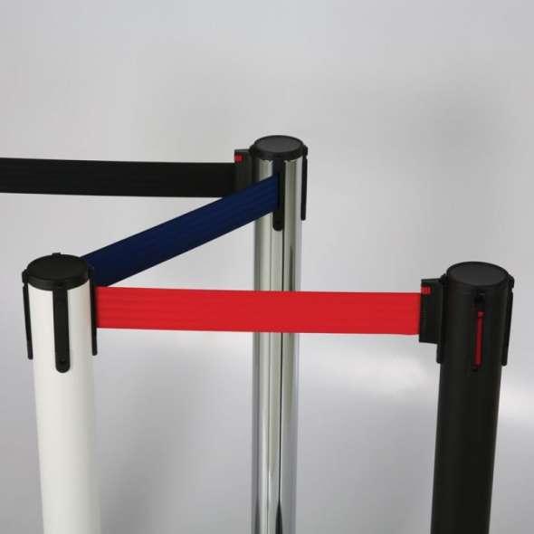 Stalp delimitare cordon retractabil color