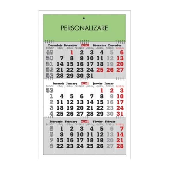 Calendar triptic pliabil 40x60 cm